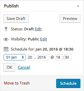 Time-Saving Tips for WordPress - WordPress Post Scheduling